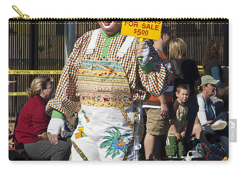 Cute Carry-all Pouch featuring the photograph Balloon Salesman by Jon Berghoff