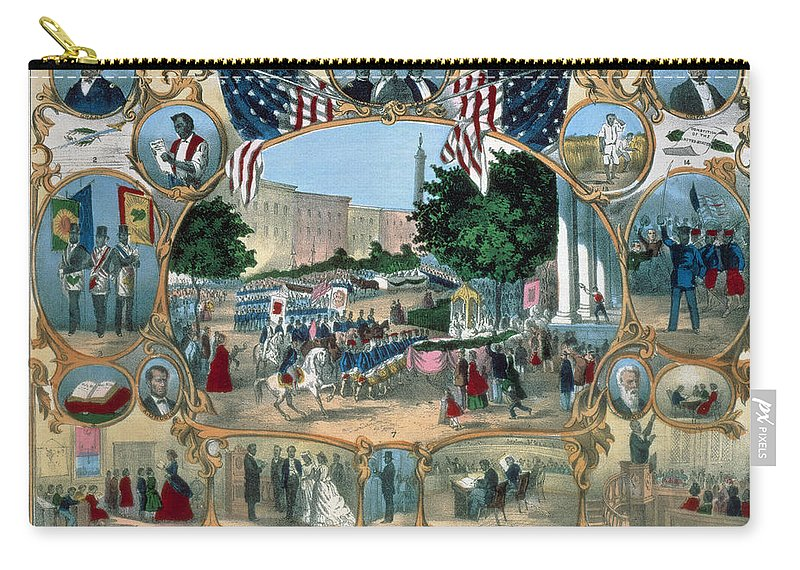 15th Amendment Carry-all Pouch featuring the photograph Baltimore: 15th Amendment by Granger