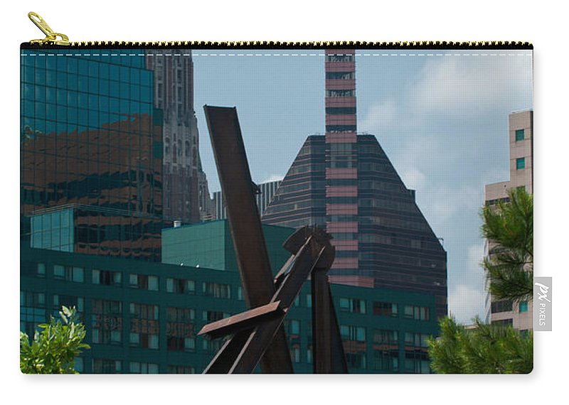 baltimore Skyline Carry-all Pouch featuring the photograph Baltimore Skyline by Paul Mangold