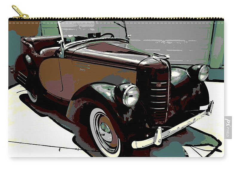 American Carry-all Pouch featuring the photograph Bantam Speedster by George Pedro