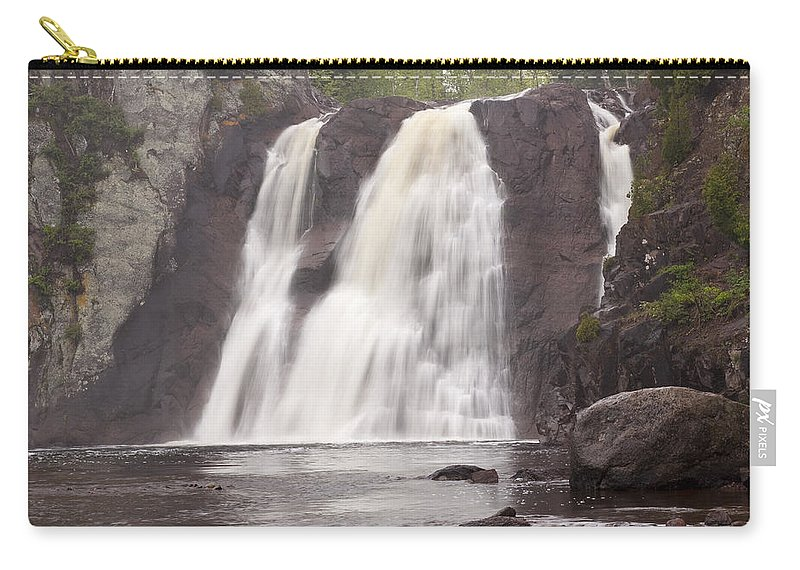 Baptism Carry-all Pouch featuring the photograph Baptism High Falls 10 by John Brueske