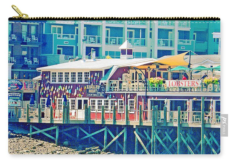 Vacation Carry-all Pouch featuring the digital art Bar Harbor Maine by Lizi Beard-Ward
