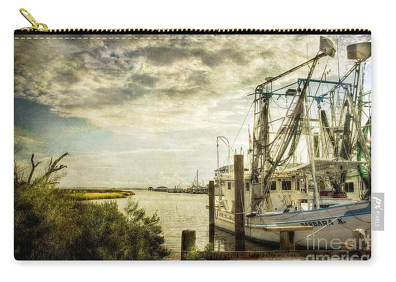 Shrimp Carry-all Pouch featuring the photograph Barbara K by Joan McCool