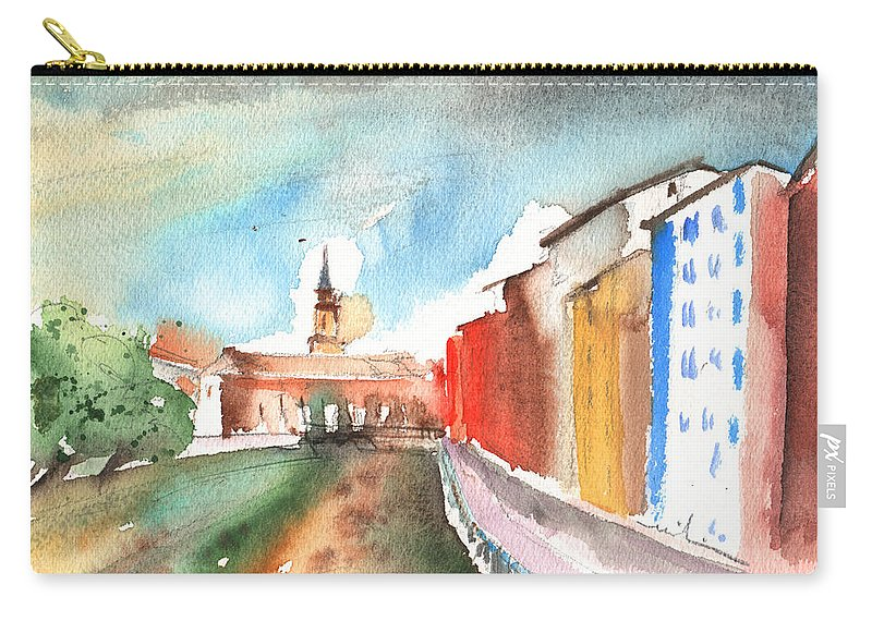 Travel Carry-all Pouch featuring the painting Barbastro 01 by Miki De Goodaboom