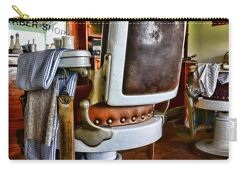 Barber - The Barber's Chair Carry-all Pouch featuring the photograph Barber - Barber Chair by Paul Ward