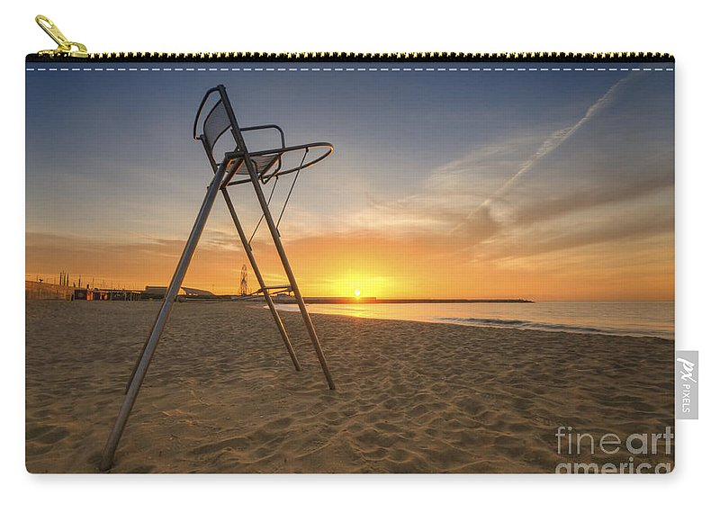 Yhun Suarez Carry-all Pouch featuring the photograph Barcelona Baywatch by Yhun Suarez
