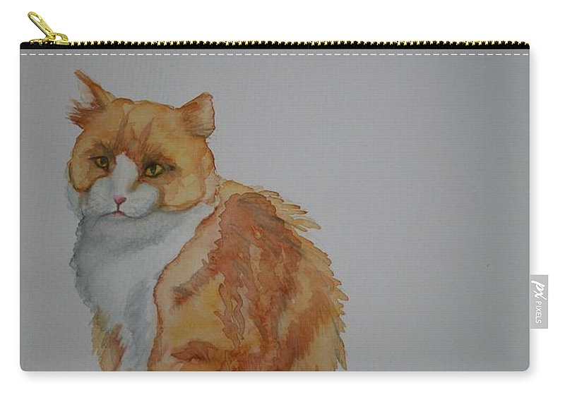 Cat Carry-all Pouch featuring the painting Barn Keeper by Susan Herber