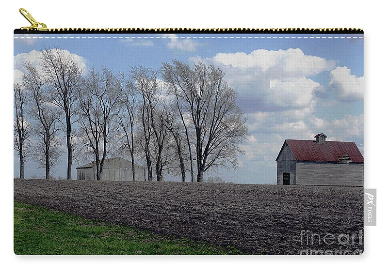 Abandoned Carry-all Pouch featuring the photograph Barn Lot 1 by Alan Look