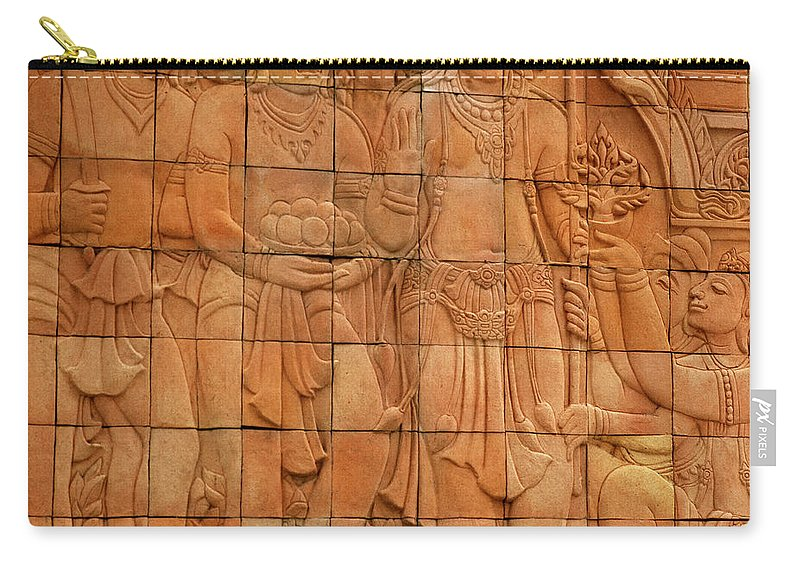 Asia Carry-all Pouch featuring the photograph Bas Relief by Shaun Higson