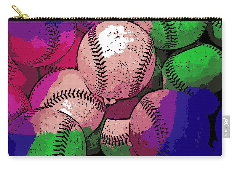 Baseball Carry-all Pouch featuring the photograph Baseball by George Pedro