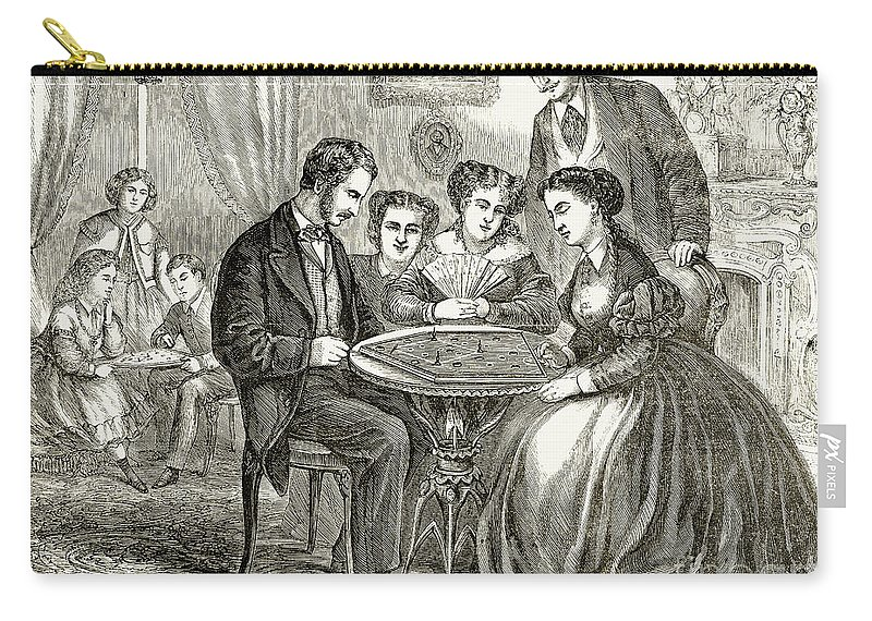 1866 Carry-all Pouch featuring the photograph Baseball: Parlor Game by Granger