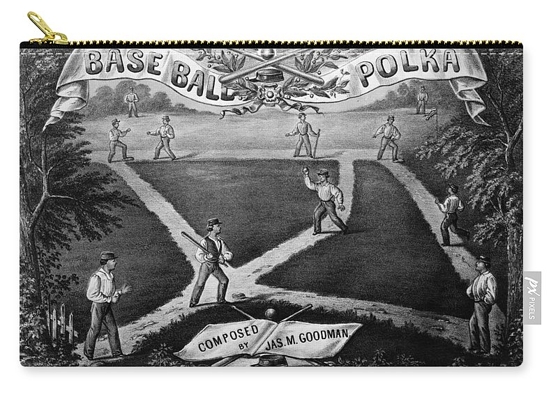 1867 Carry-all Pouch featuring the photograph Baseball Polka, 1867 by Granger