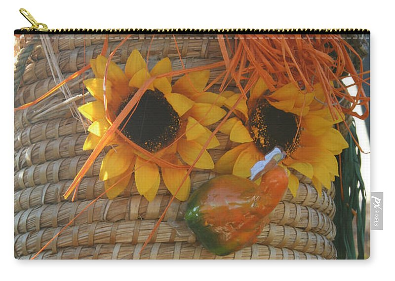 Fall Carry-all Pouch featuring the photograph Basket Head by Susan Herber
