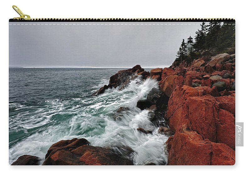 Tide Photographs Carry-all Pouch featuring the photograph Bass Harbor Head Lighthouse by Rick Berk