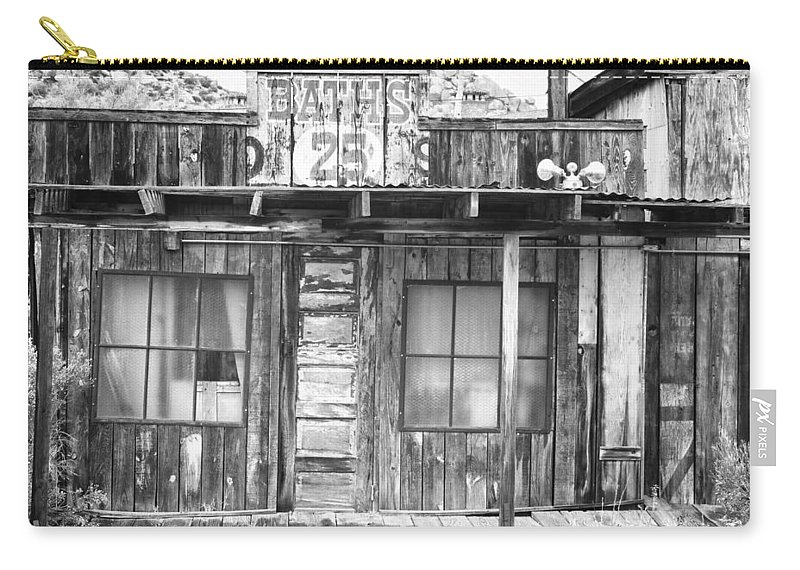Baths Carry-all Pouch featuring the photograph Baths Twenty Five Cents Bw by James BO Insogna