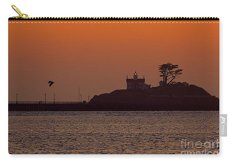 Battery Point Carry-all Pouch featuring the photograph Battery Point Sunset by James Anderson