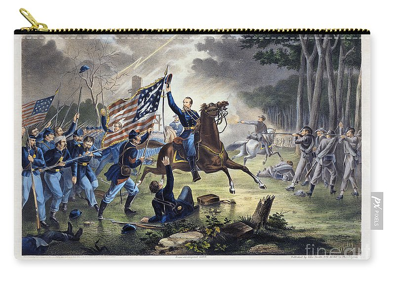 1862 Carry-all Pouch featuring the photograph Battle Of Chantlly, 1862 by Granger
