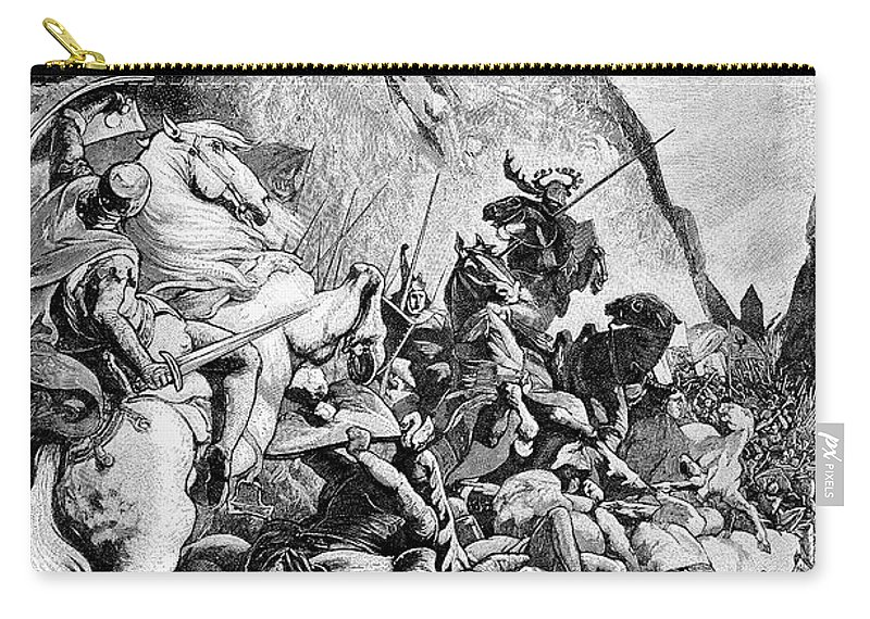 1315 Carry-all Pouch featuring the photograph Battle Of Morgarten, 1315 by Granger