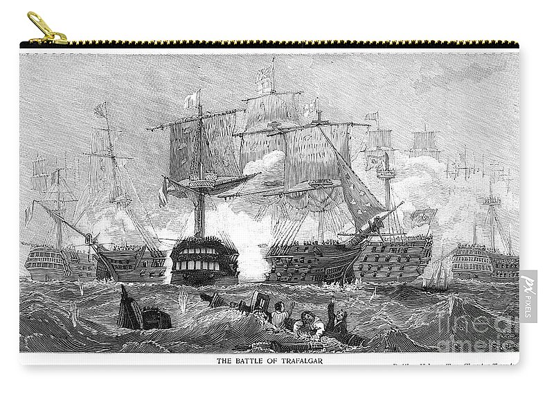 1805 Carry-all Pouch featuring the photograph Battle Of Trafalgar, 1805 by Granger