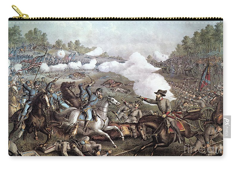1893 Carry-all Pouch featuring the photograph Battle Of Winchester, by Granger
