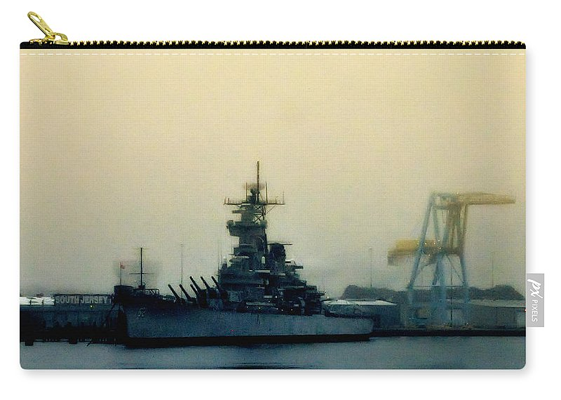 Battleship New Jersey Carry-all Pouch featuring the photograph Battleship New Jersey by Bill Cannon