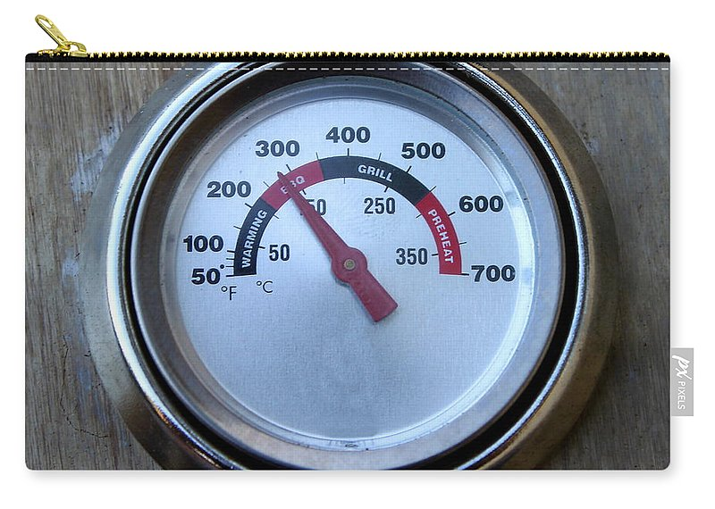 Hot Carry-all Pouch featuring the photograph Bbq Thermometer by Henrik Lehnerer