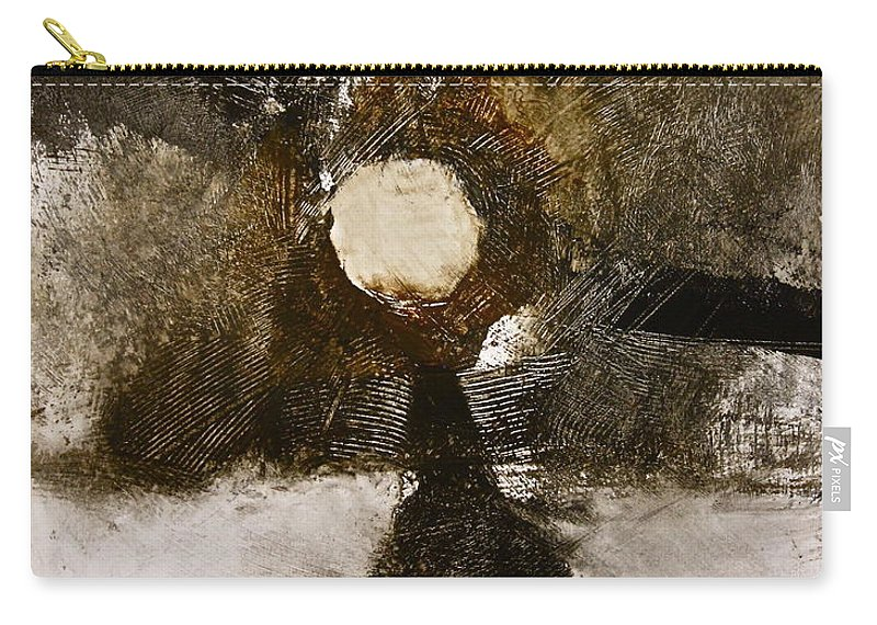 Abstract Paintings Carry-all Pouch featuring the painting Beachcomber by Cliff Spohn