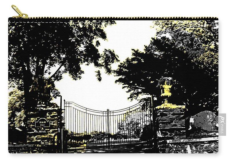 Gate Carry-all Pouch featuring the digital art Beacon Rock Gate Newport Ri by Lizi Beard-Ward