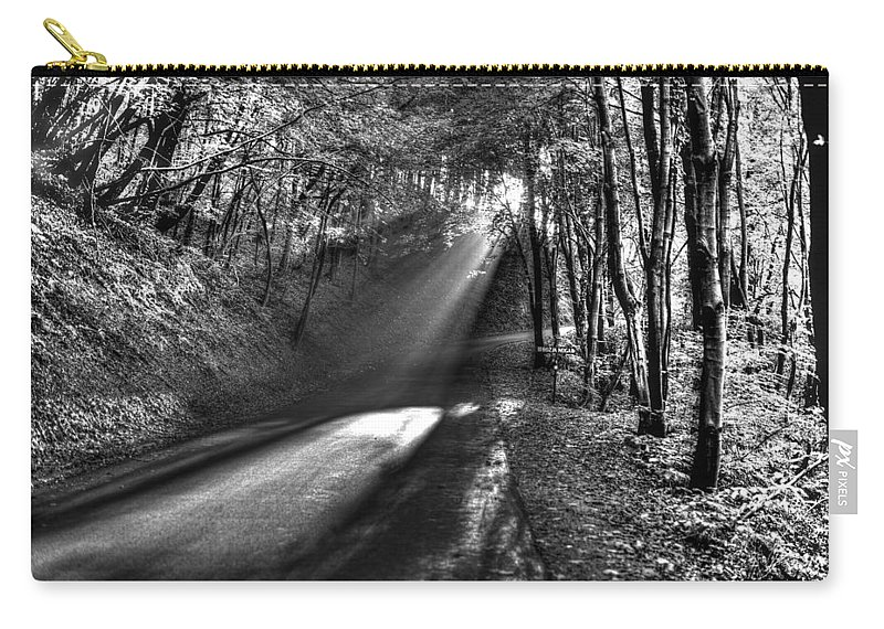 Sun Carry-all Pouch featuring the photograph Beam by Ivan Slosar