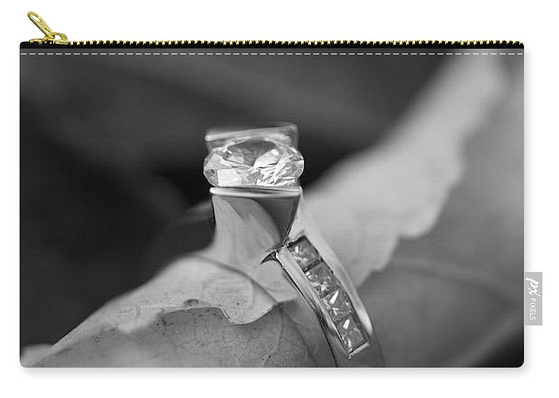 Solitaire Diamond Carry-all Pouch featuring the photograph Beautiful Engagement Two by Brooke Roby