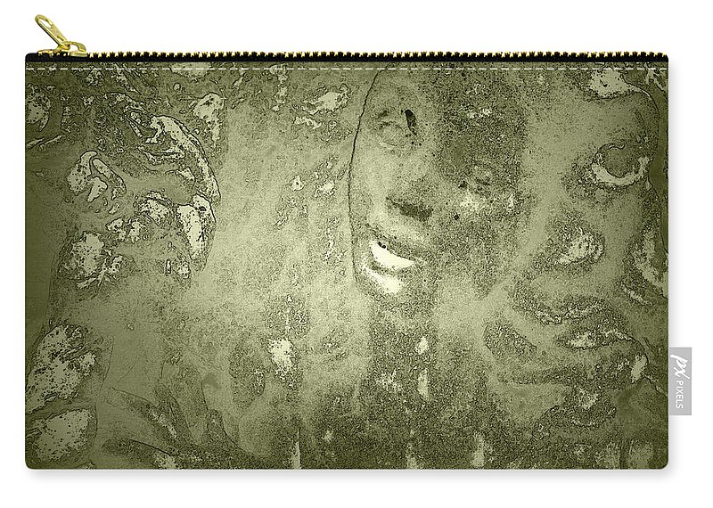 Beauty Carry-all Pouch featuring the photograph Beauty Cast In Stone by Kathy Clark
