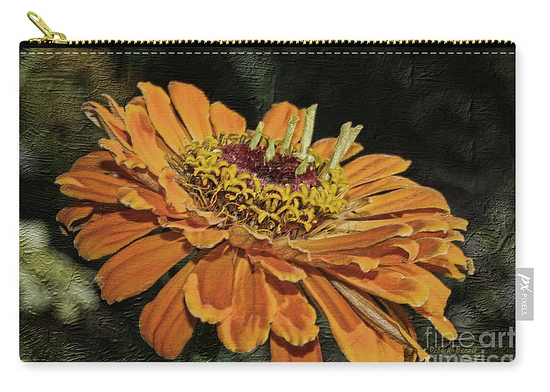 Flower Carry-all Pouch featuring the photograph Beauty In Orange Petals by Deborah Benoit