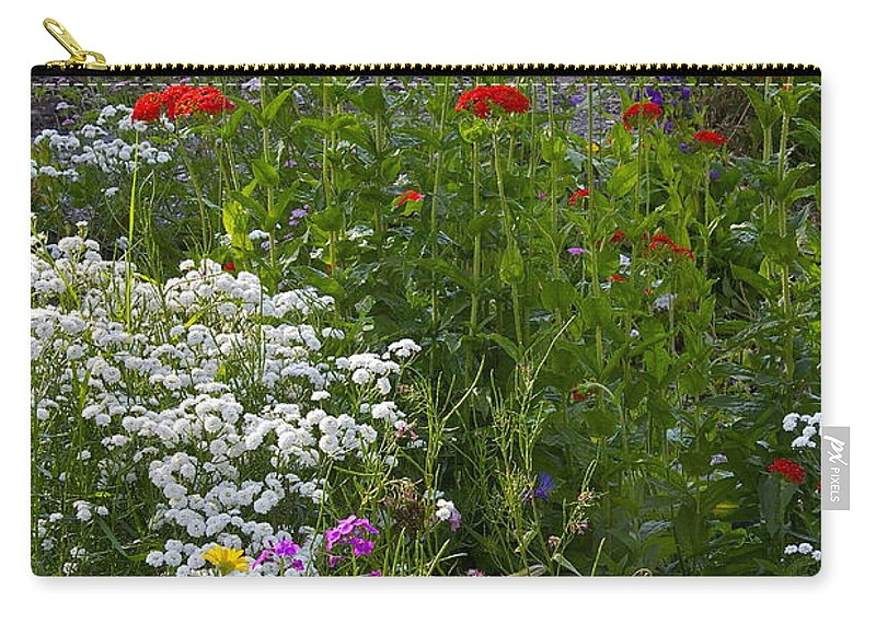 Hospital Bed Carry-all Pouch featuring the photograph Bed Of Flowers by Johanna Bruwer
