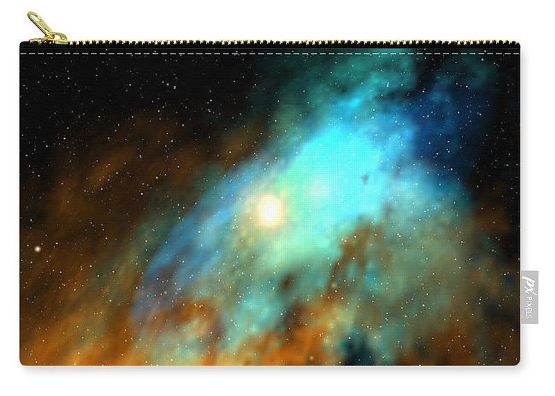Nebula Space Art Carry-all Pouch featuring the digital art Beducas nebula by Robert aka Bobby Ray Howle