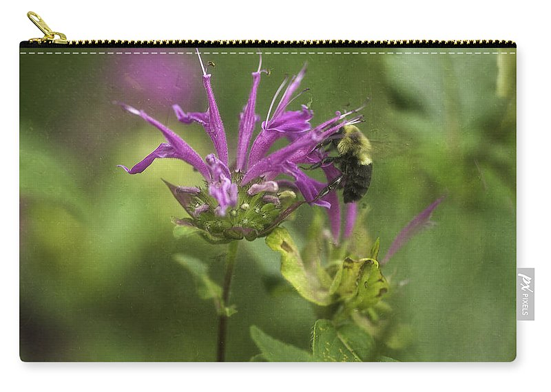 Flower Carry-all Pouch featuring the photograph Beebalm by Fran Gallogly