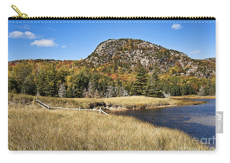 Acadia Carry-all Pouch featuring the photograph Beehive Mt Acadia by John Greim