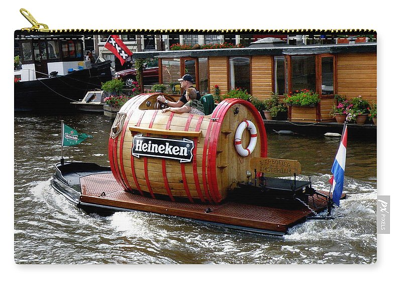 Boat Carry-all Pouch featuring the photograph Beer Boat by Lainie Wrightson