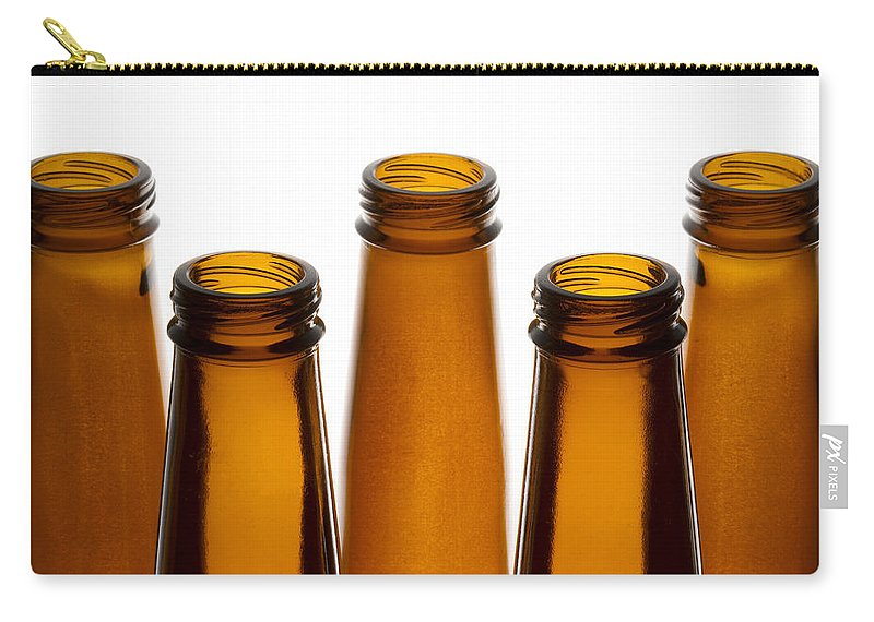 Bottle Carry-all Pouch featuring the photograph Beer Bottles 1 A by John Brueske