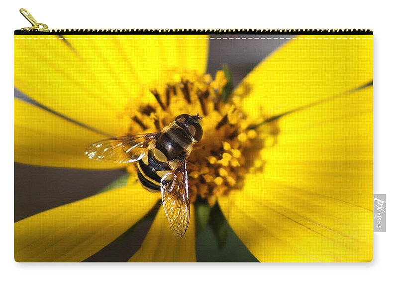 Carry-all Pouch featuring the photograph Beeutiful by Travis Truelove