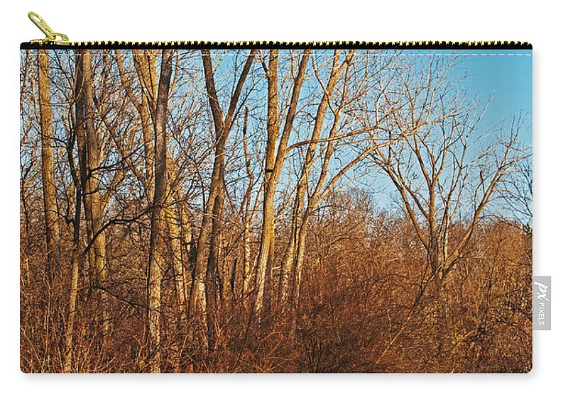 Heron Haven Carry-all Pouch featuring the photograph Beginning Ice by Edward Peterson