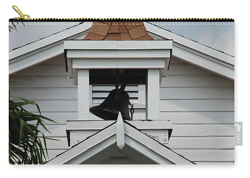 Architecture Carry-all Pouch featuring the photograph Bell Tower by Rob Hans
