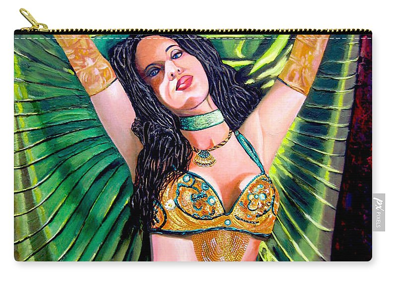 Girl Carry-all Pouch featuring the painting Belly Dancer by Jose Manuel Abraham