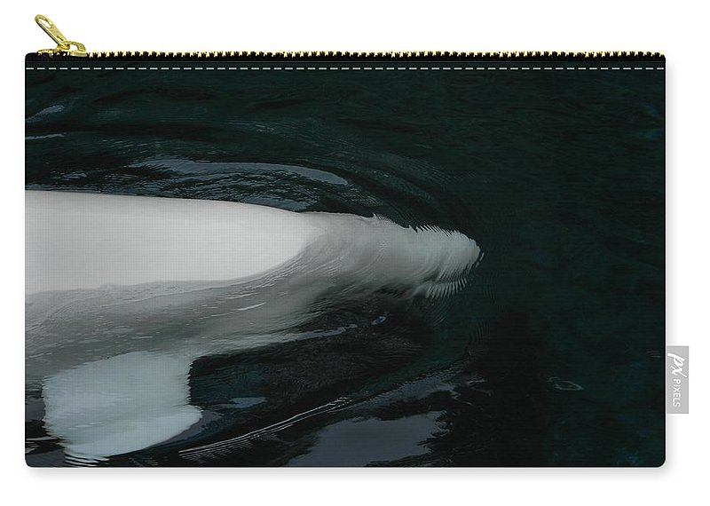 Beluga Carry-all Pouch featuring the photograph Beluga Impressions 3 by Marwan George Khoury