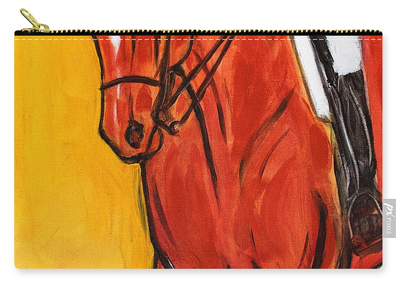 Horse Carry-all Pouch featuring the painting Bend II by Helen Scanlon