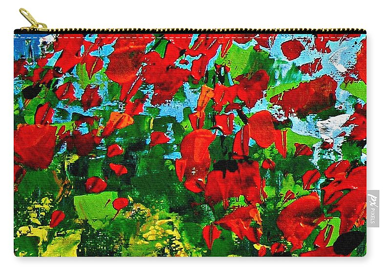Autumn Carry-all Pouch featuring the painting Beneath The Autumn Tree by Kume Bryant