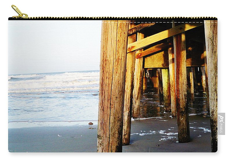 Florida Carry-all Pouch featuring the photograph Beneath The Pier - Vanilla Pop by Chris Andruskiewicz