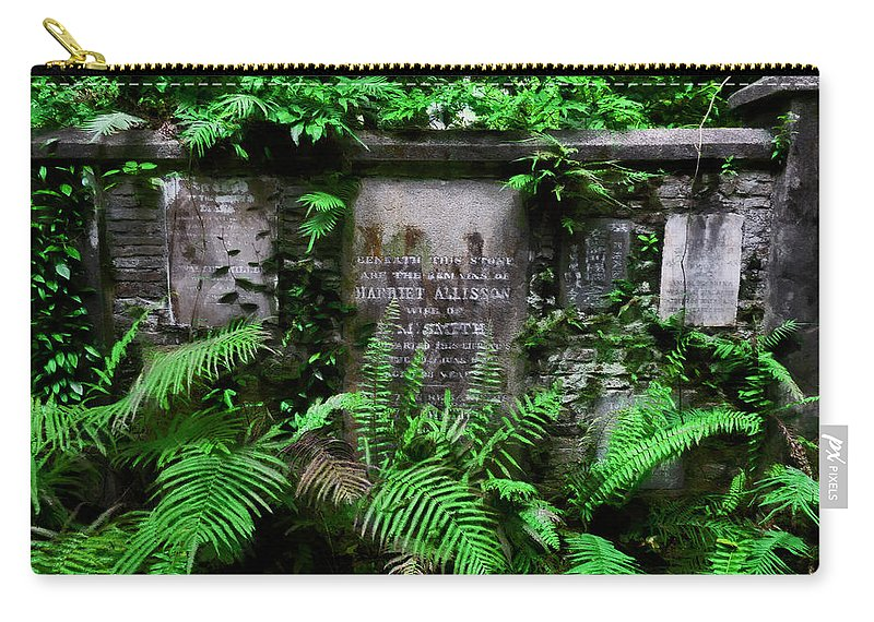 Beneath This Stone Carry-all Pouch featuring the photograph Beneath This Stone by Steve Taylor
