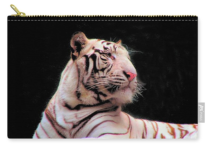 Bengal Carry-all Pouch featuring the photograph Bengal Tiger by Art Dingo