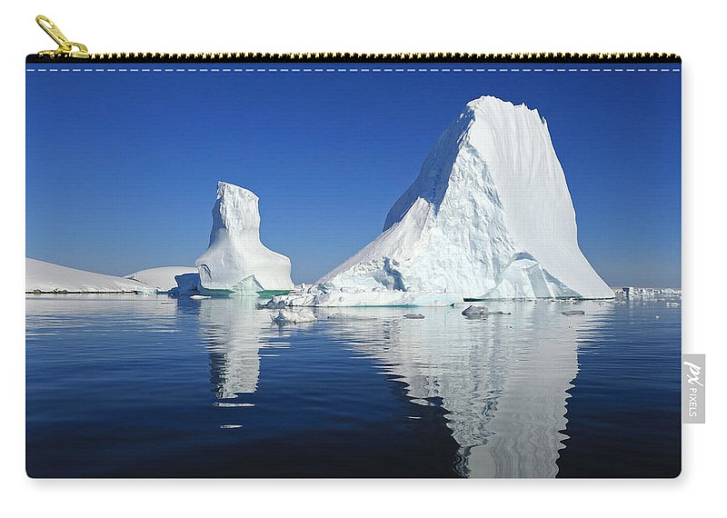 Ice Berg Carry-all Pouch featuring the photograph Bergie Bit - Antarctica by Tony Beck