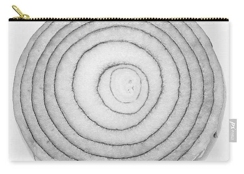'bermuda Onion' Carry-all Pouch featuring the photograph Bermuda Onion Spiral Bw by James BO Insogna